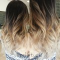 Long wavy hairstyle for ombre hair via
