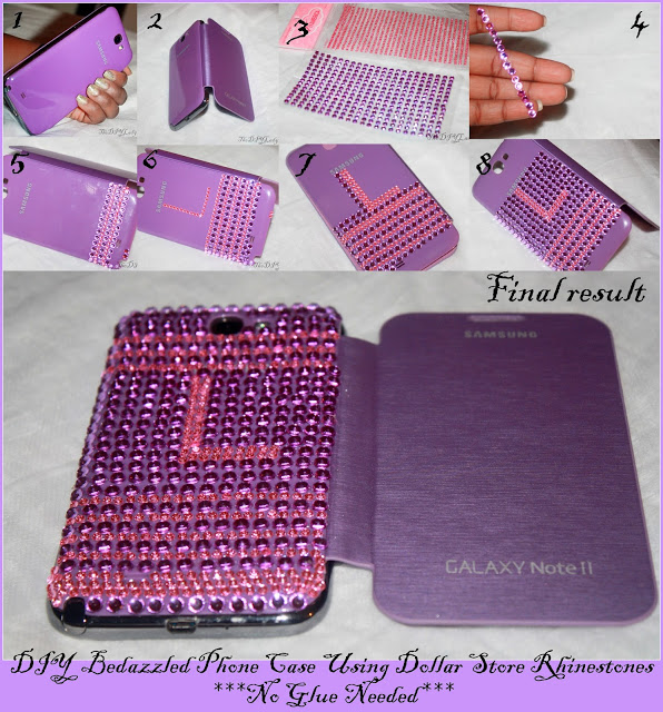 Purple Studded Phone Case