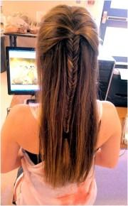 simple fishtail braid hairstyles