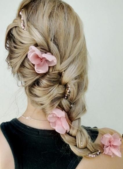 Side Braided Hairstyle for Wedding