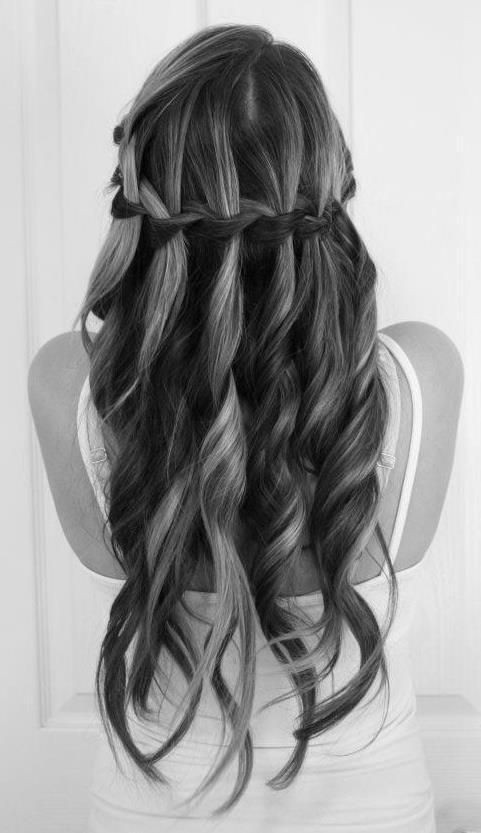 Waterfall Braid for Long Hairstyles