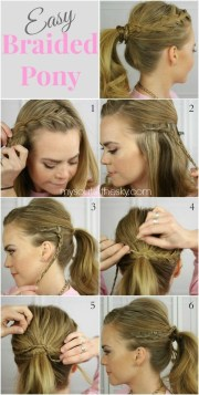 simple and chic ponytail hairstyles