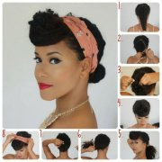beautiful hairstyles with scarf