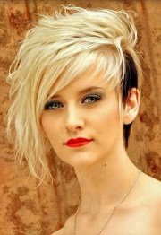 cool and edgy black blonde hairstyles