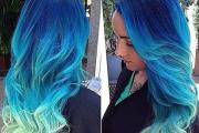 pretty blue hairstyles women