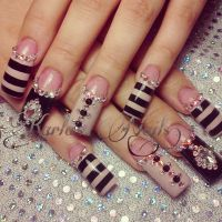 21 Beautiful Nail Designs for Long Nails 2019 - Pretty Designs