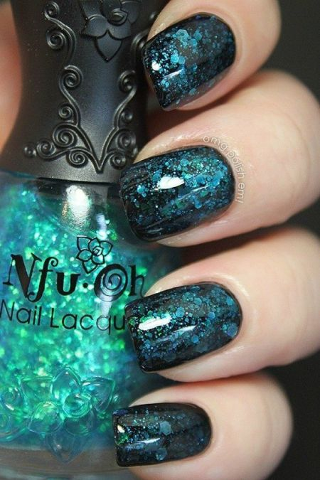 Blue green nail designs choice image nail art and nail design ideas 25 cool nail design ideas for 2017 nail art ideas flawlessend green nail design idea prinsesfo prinsesfo Choice Image