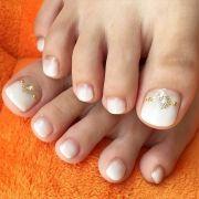 adorable easy toe nail design