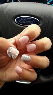 trendy nail art design - pretty