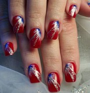 terrific fireworks nail design