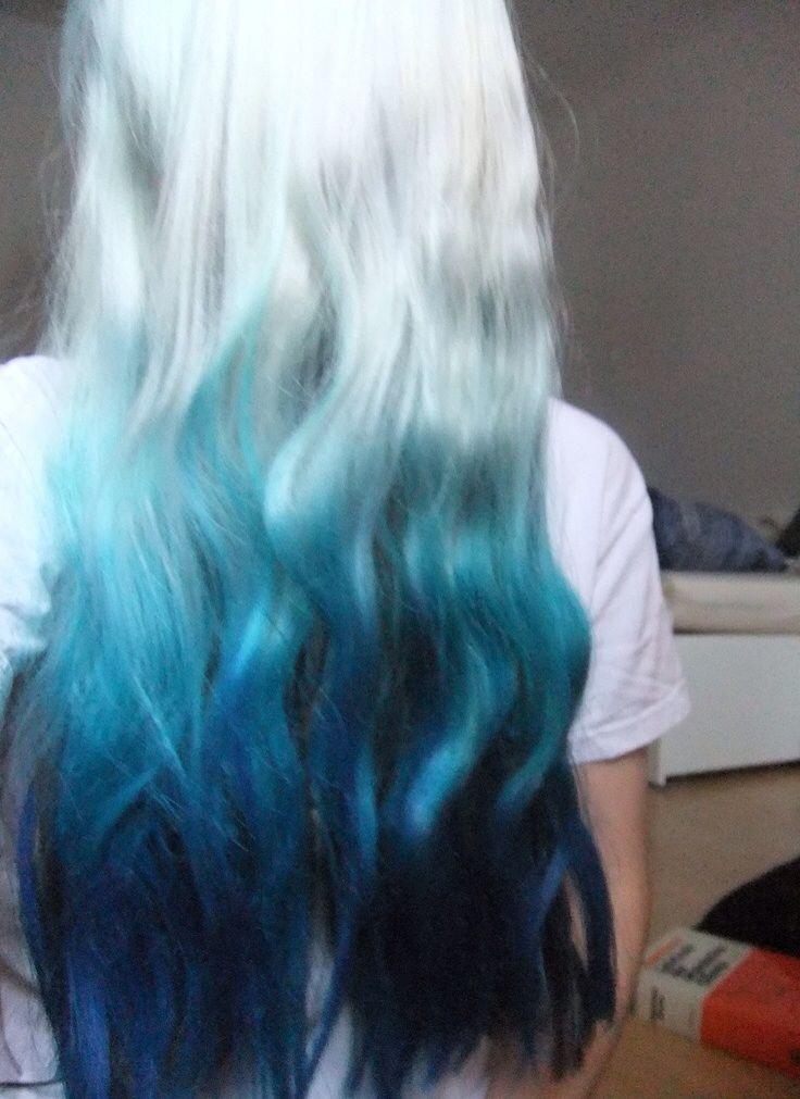 Blue And White Hair Hair Pinterest My Hair Girls And White