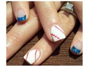 sporty baseball nail design