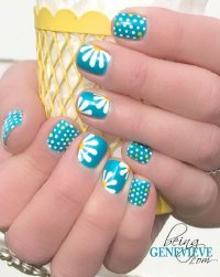22 Lovely Polka Dot Nail Designs for 2016