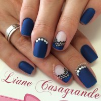 29 Adorable Blue Nail Designs for 2018