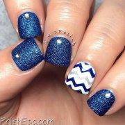 adorable blue nail design