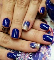 adorable blue nail design
