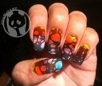 bubble nail art design 18 unique water marble nail designs ...