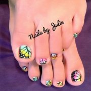 cute easy toenail design