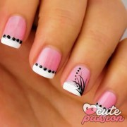 cute pink nail design 2016