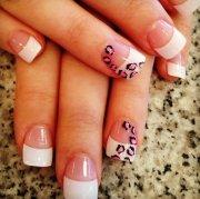 wild leopard print nail design