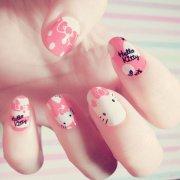 cute kitty nail design