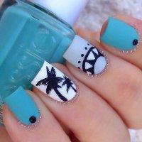 29 Adorable Blue Nail Designs for 2018 - Pretty Designs
