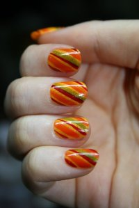 20 Impressive Thanksgiving Nail Designs - Pretty Designs