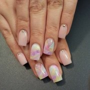 remarkable watercolor nail design