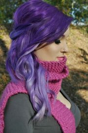 romantic purple hairstyles