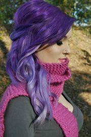 romantic purple hairstyles