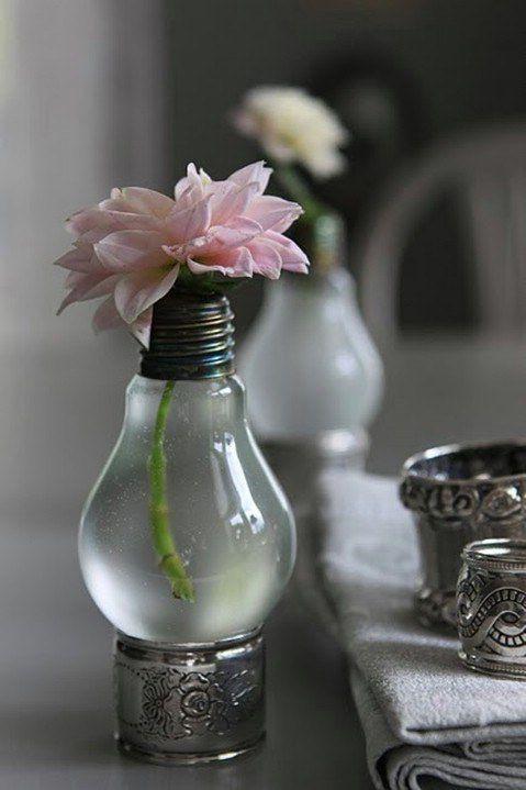 Lightbulb Vase for Spring