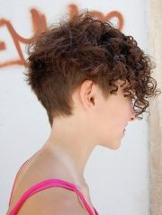 glamorous curly pixie hairstyles