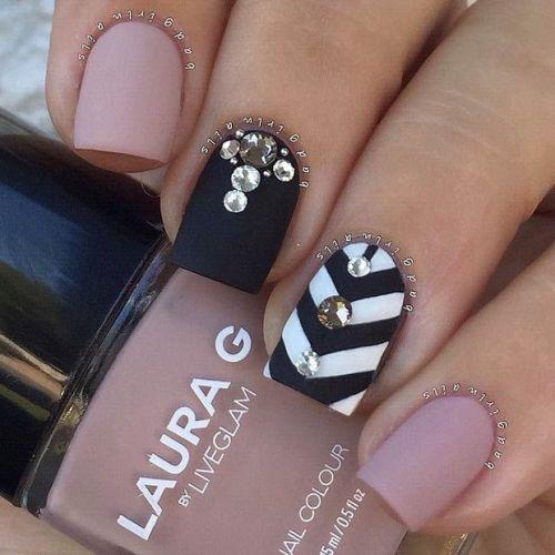 Embellished Rose Quartz Nails