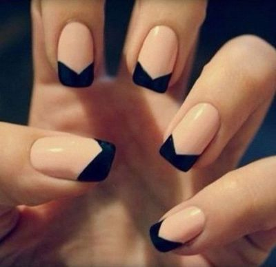 French Manicure Matte Nails