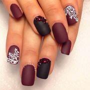cute matte nail design