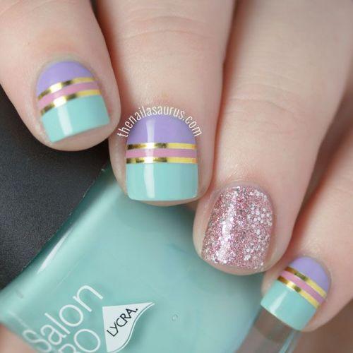 Glitter Matte Nail Design