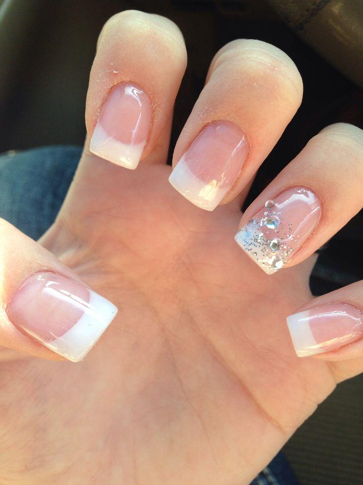 French Tips Wedding Nail Design