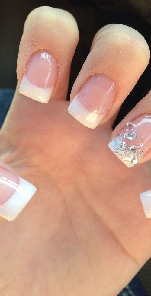 Glitter Design Νυχιών Γάμου