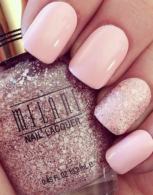 Rose Quartz Wedding Nails