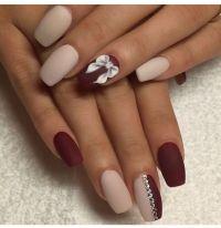 Two-Tone Matte Nails - Pretty Designs