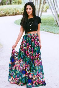 20 Styles to Wear Crop Tops and Skirts for Summer - Pretty ...