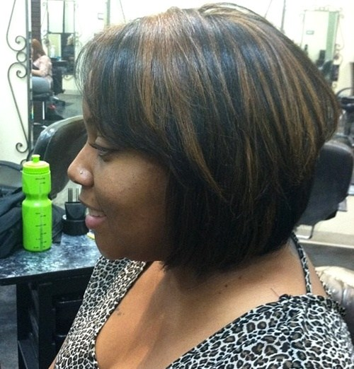 Black and Brown Stacked Bob