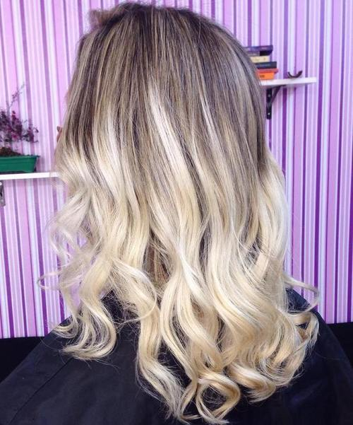 Brown and Blonde Curls