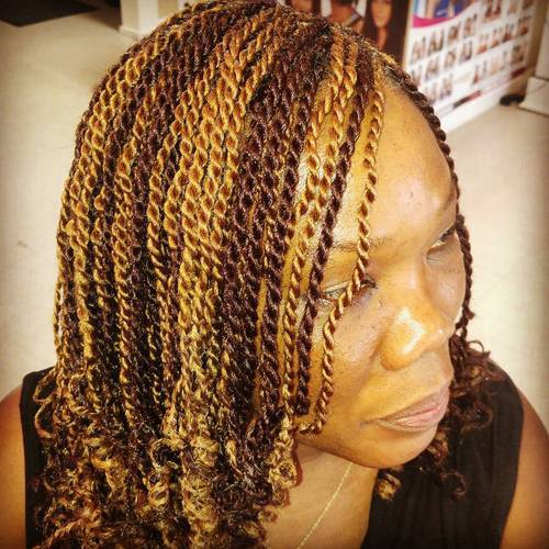 20 Fun Twisted Hairstyles For Natural Hair African American Hair