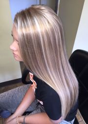 champagne blonde hairstyles