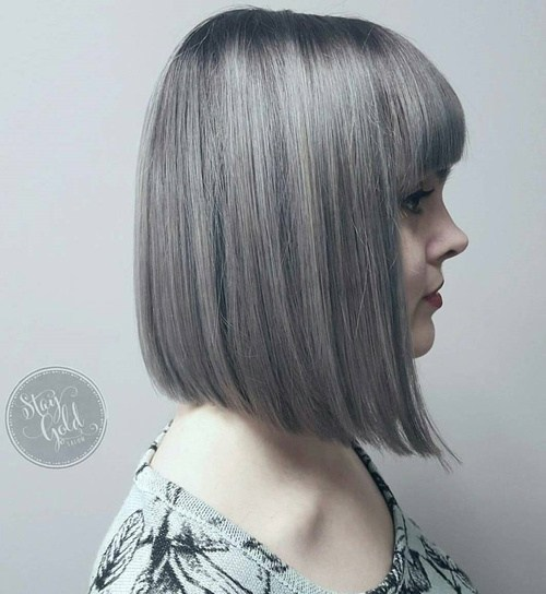 18 Ideas To Style A Grey Hair Look Pretty Designs