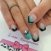 magnificent stone nail art design