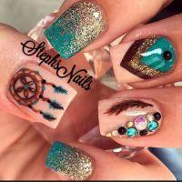 Stone Nail Art Design - Pretty Designs