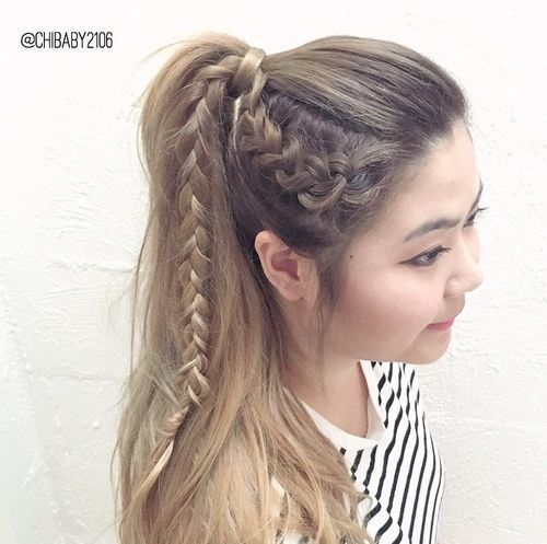 19 Pretty Ways To Try French Braid Ponytails Pretty Designs