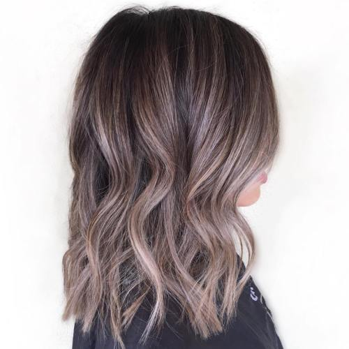 Chocolate Hair with Sliver Highlights